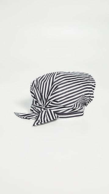 Kitsch Black and White Stripe Shower Cap