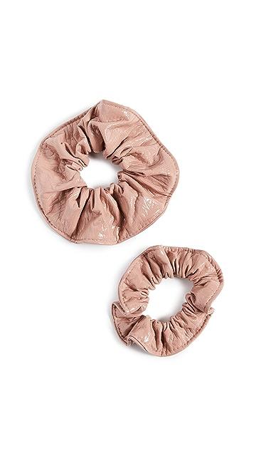 Kitsch x Justine Marjan Patent Scrunchie Set