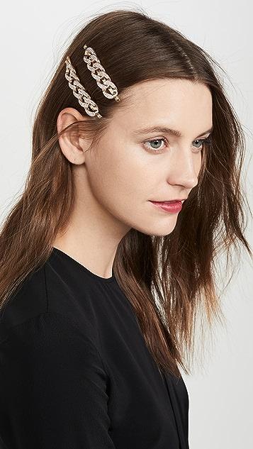 Kitsch x Justine Marjan XL 链条发夹套装