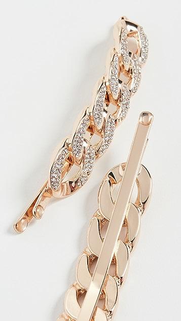 Kitsch x Justine Marjan XL Chain Bobby Pin Set