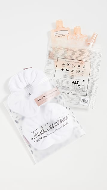 Kitsch Travel Set Blush x White Towel 发带