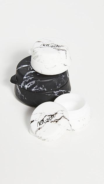 Kitsch 3pc Silicone Travel Jar Set