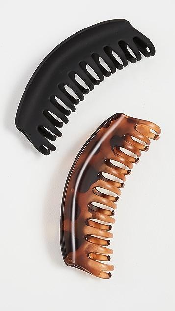 Kitsch 再生塑料大号圆顶形爪形夹扣 2