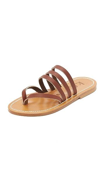 K. Jacques Sycamore Slide Sandals