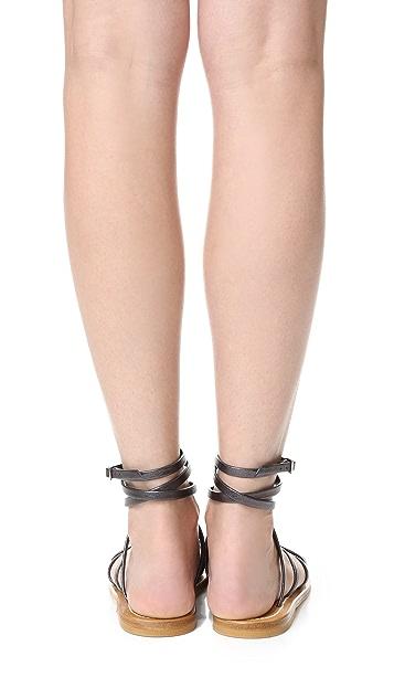 K. Jacques Gladiator Wrap Sandals