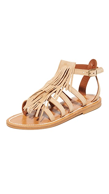 K. Jacques Fregate Fringe Sandals