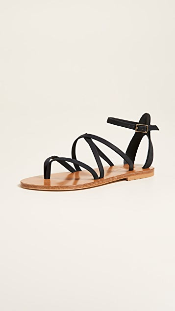 K JACQUES Fusain Leather Sandals discount footlocker visa payment cheap online clearance with credit card 8cAnMNMNs