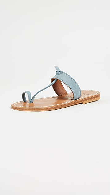 K. Jacques Ganges Toe Ring Sandals