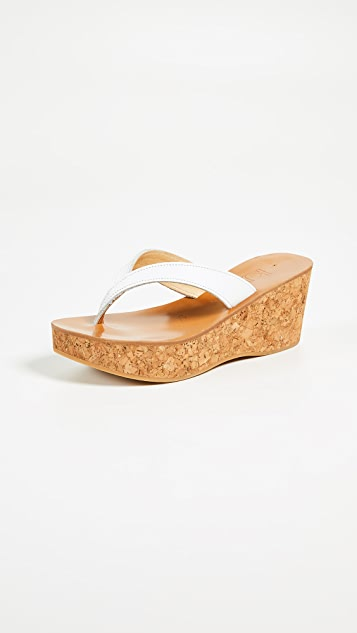 K. Jacques Diorite Thong Wedges