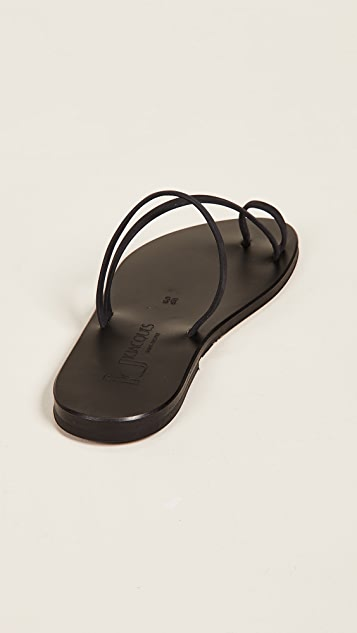K. Jacques Bolzano Toe Ring Sandals