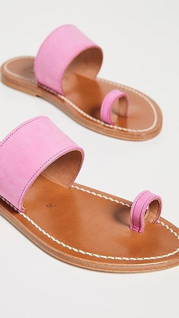 K. Jacques Nagoya Toe Ring Slides