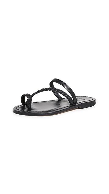 K. Jacques Septine Toe Ring Slide Sandals