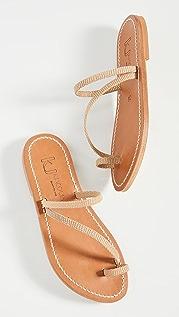 K. Jacques Actium Toe Ring Sandals