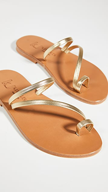 K. Jacques Actium Toe Ring Slides