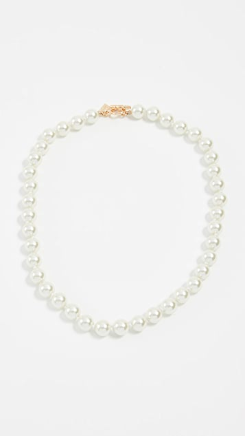 Kenneth Jay Lane Imitation Pearl Necklace - Gold/Pearl