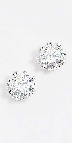 Kenneth Jay Lane - Round CZ Stud Earrings