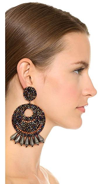 Kenneth Jay Lane Multi Hoop Earrings