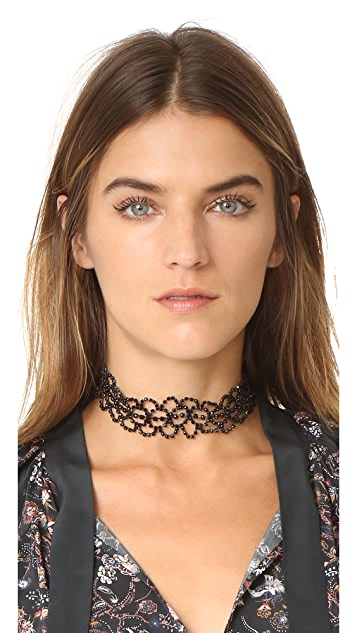 Kenneth Jay Lane Lace Choker Necklace
