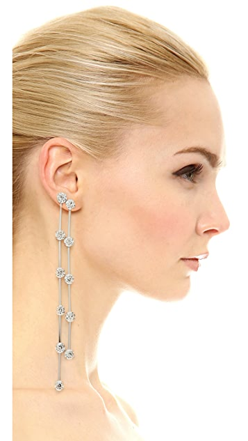 Kenneth Jay Lane 2 Row Drop Earrings