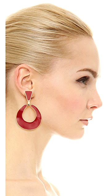 Kenneth Jay Lane Door Knocker Earrings