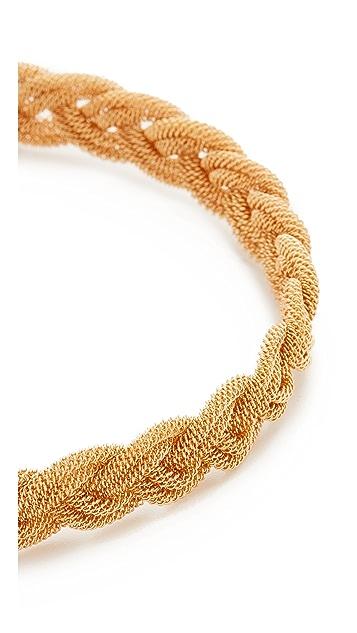 Kenneth Jay Lane Interwoven Choker Necklace