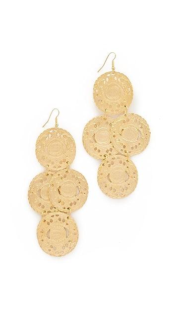Kenneth Jay Lane Coin Drop Earrings