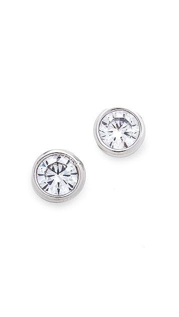 Kenneth Jay Lane Bezel Stud Earrings