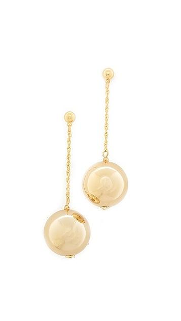 Kenneth Jay Lane Dangling Sphere Earrings