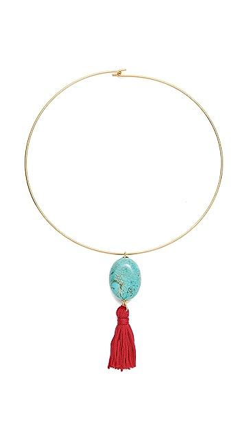 Kenneth Jay Lane Tassel Choker Necklace
