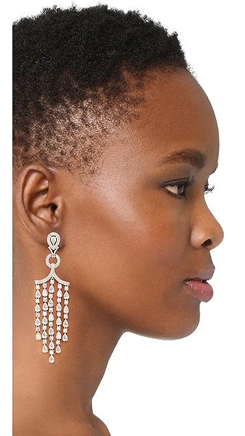 Kenneth Jay Lane Pear Fringe Earrings
