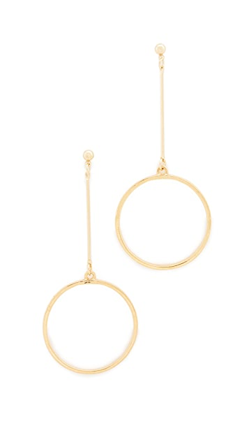 Kenneth Jay Lane Circle Drop Earrings