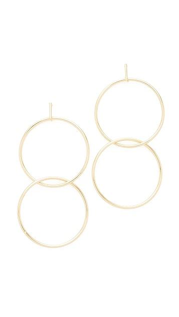 Kenneth Jay Lane Gold Double Interlock Earring