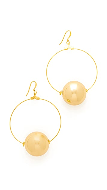 Kenneth Jay Lane Hoop Earrings