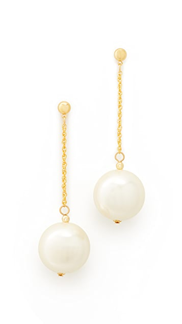 Kenneth Jay Lane Chain with Imitation Pearl Drop Earrings