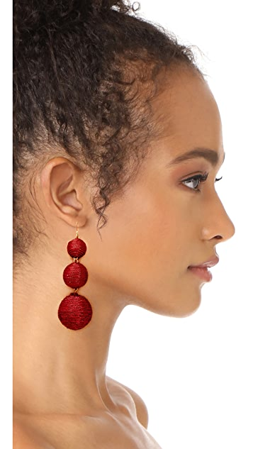 Kenneth Jay Lane 3 Tier Ball Drop Earring