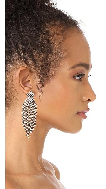 Kenneth Jay Lane Gunmetal Waterfall Earrings