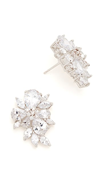Kenneth Jay Lane Pear & Marquise Cluster Stud