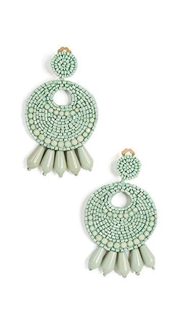 Kenneth Jay Lane Round Gypsy Hoop Earrings