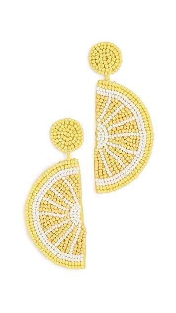 Kenneth Jay Lane Lemon Drop Earrings