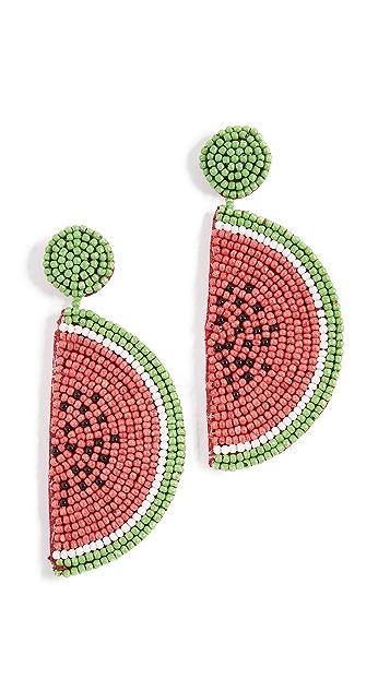 Kenneth Jay Lane Watermelon Drop Earrings