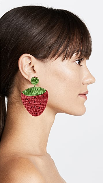 Kenneth Jay Lane Strawberry Drop Earrings