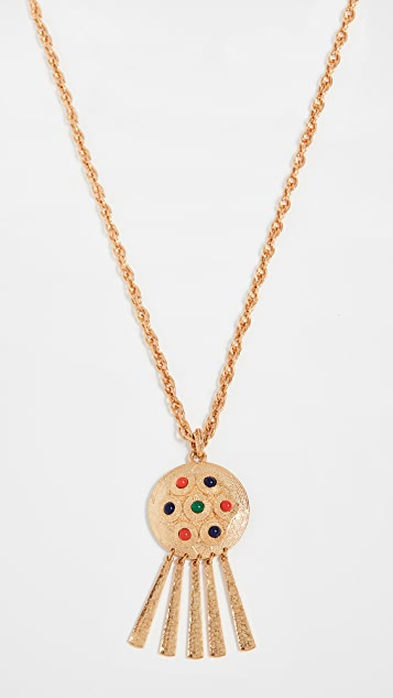 Kenneth Jay Lane Cabochon Pendant Necklace