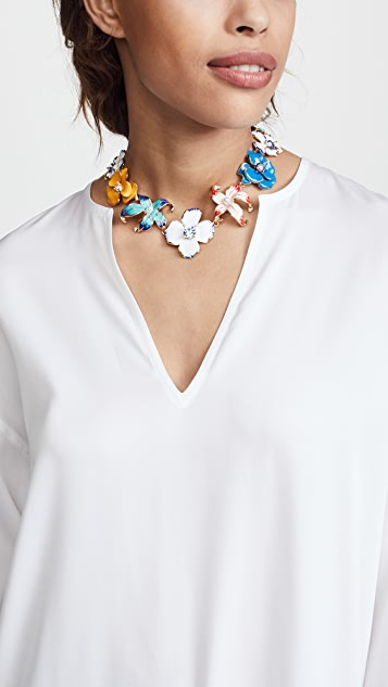 Kenneth Jay Lane Flower Necklace