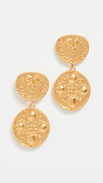 Kenneth Jay Lane Top & Drop Earrings