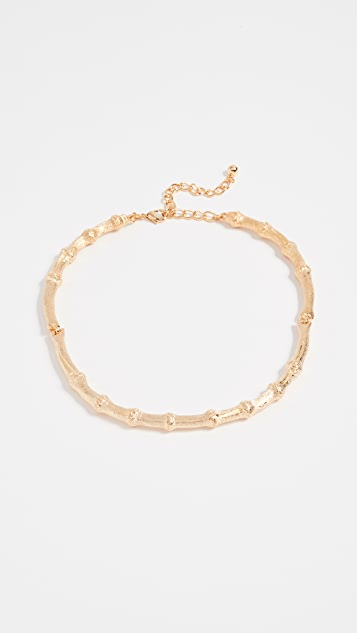 Kenneth Jay Lane Bamboo Lobster Clasp Necklace