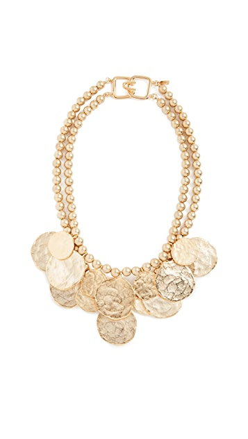 Kenneth Jay Lane Coin Necklace