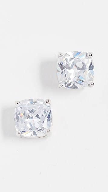 Kenneth Jay Lane Cushion CZ Stud Earrings
