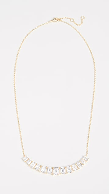 Kenneth Jay Lane Emerald Cut Arch Necklace