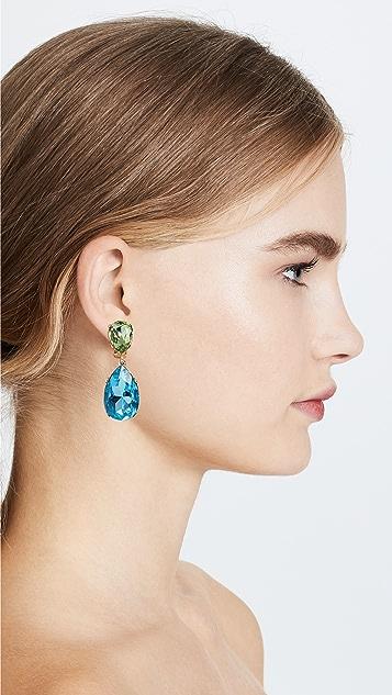 Kenneth Jay Lane Double Teardrop Clip On Earrings