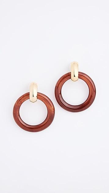 Kenneth Jay Lane Doorknocker Clip On Earrings